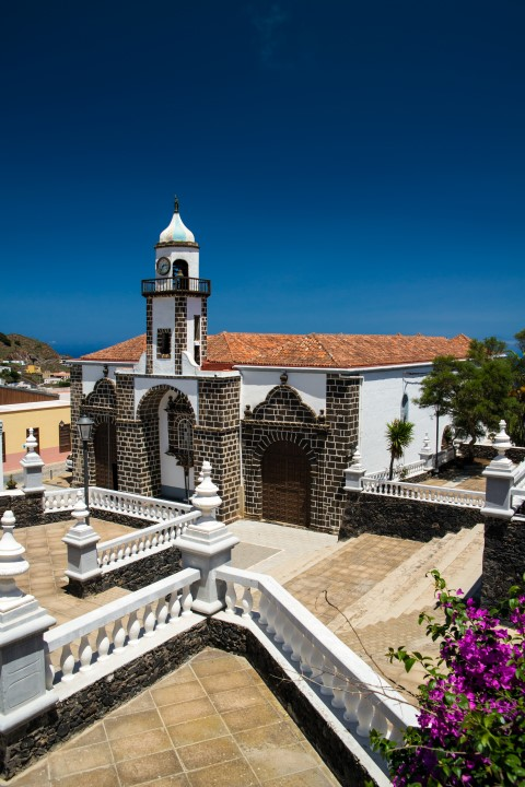 Church in Valverde on the Canary Island of El Hierro