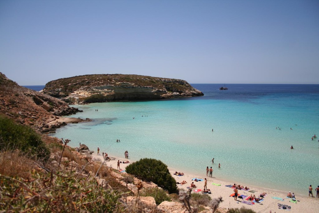 La spiaggia di Lampedusa