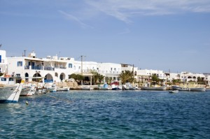 port of greek island antiparos cyclades