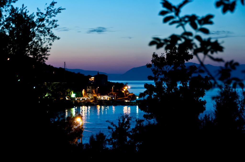Vista di un campeggio in Croazia