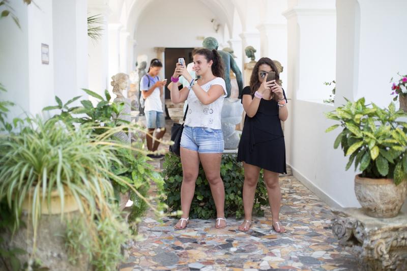gruppo blog tour Anacapri why not villa san Michele