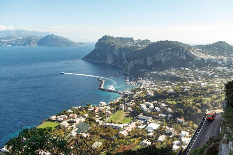 Panorama Scala Fenicia a Capri
