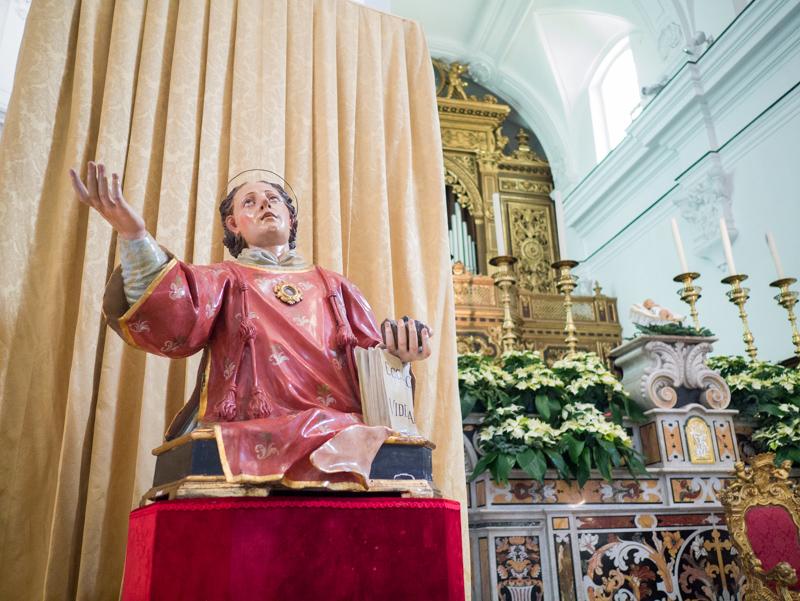 La chiesa di Santo Stefano a Capri: statua