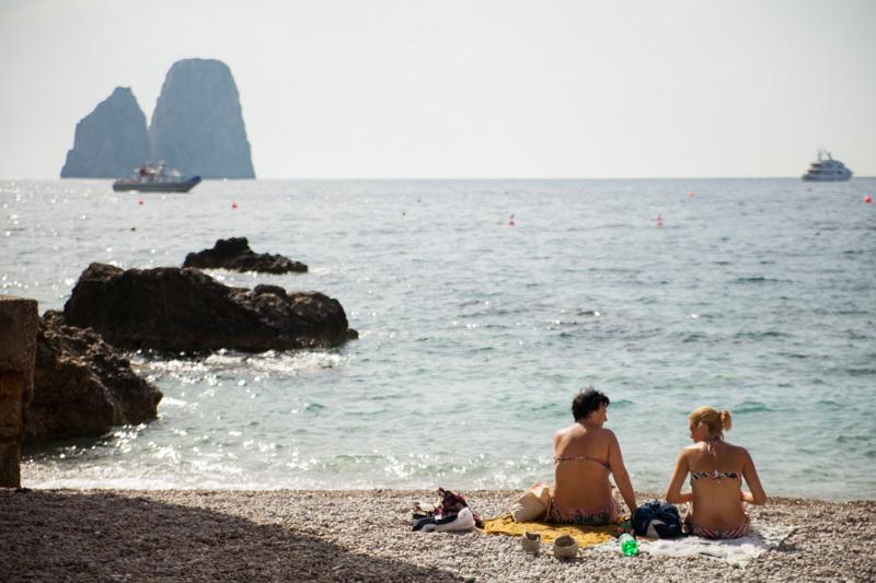 Vacanze a Capri sulla spiaggia di Marina Piccola