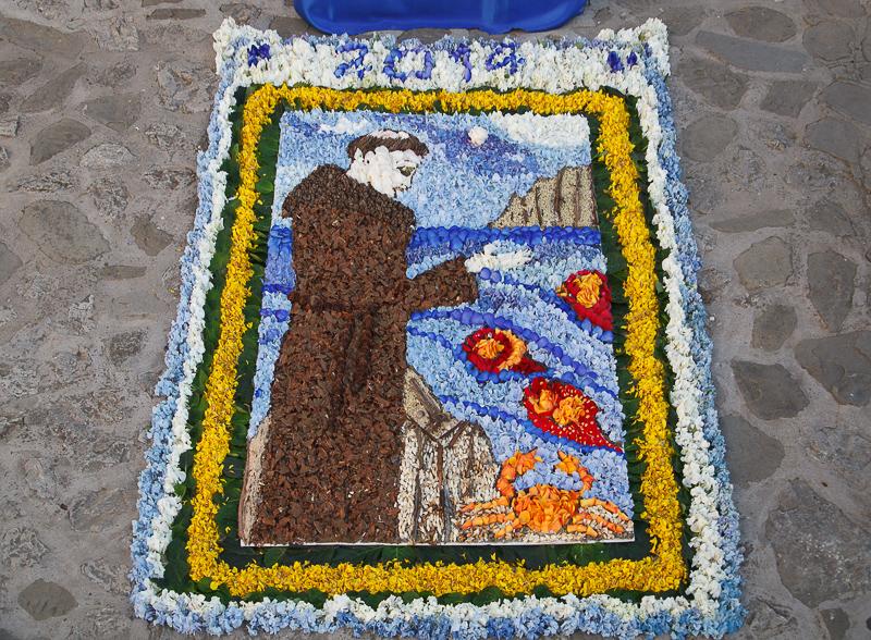 tappeto di fiori: processione di Sant'Antonio