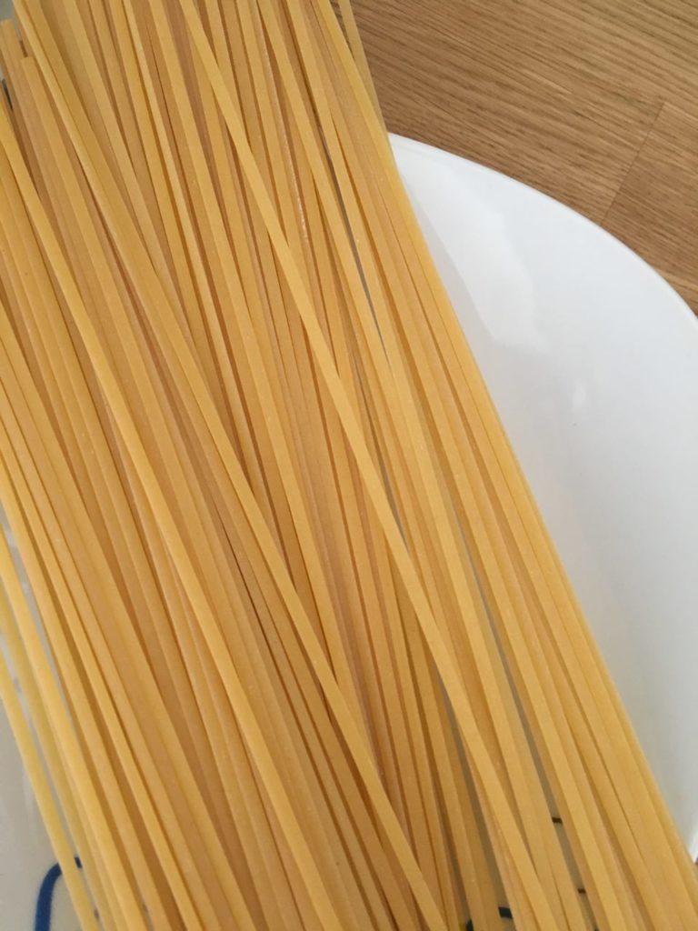 Ingredienti per gli spaghetti alle vongole
