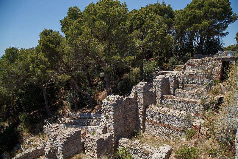 Villa Jovis a Capri e altri resti