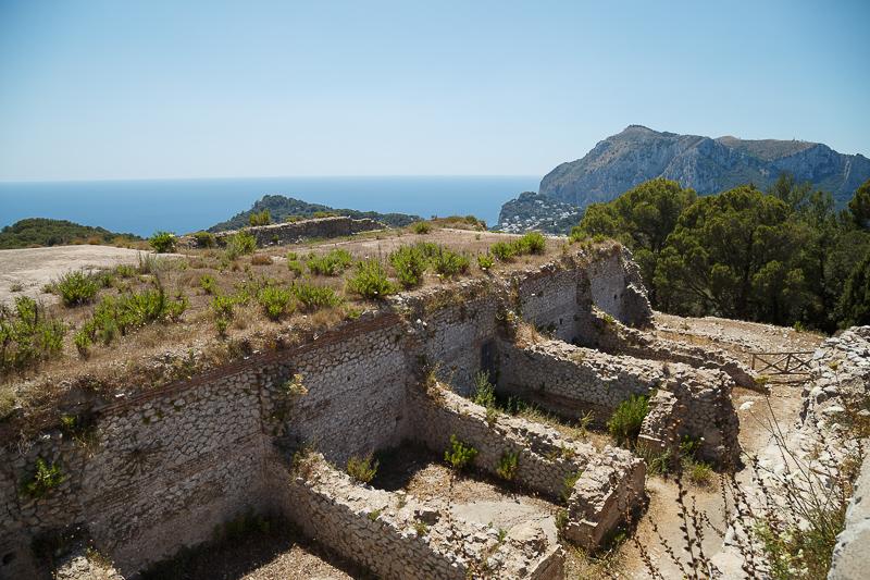 Villa Jovis a Capri: rovine