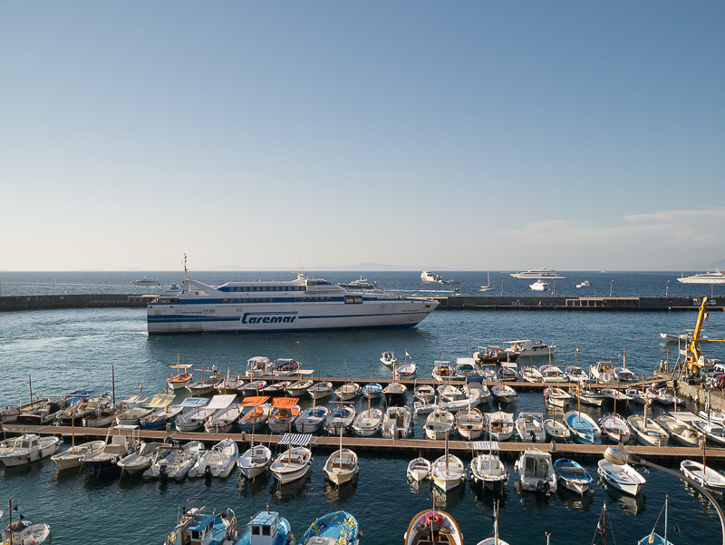 arrivare a Capri porto