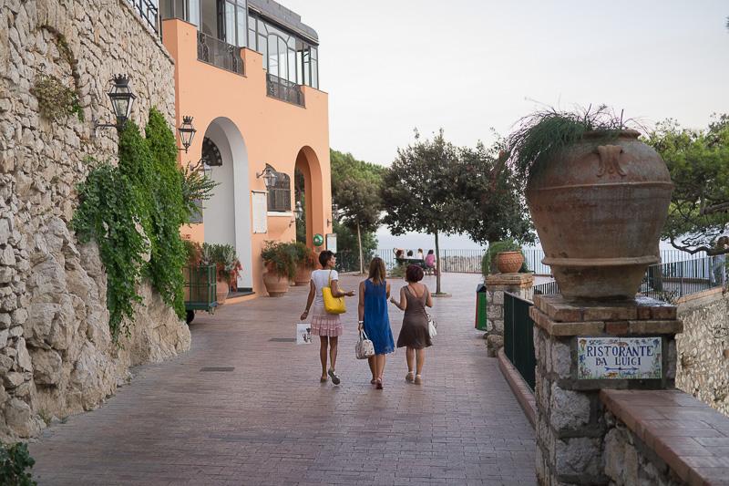 Fine di via Tragara a Capri, il belvedere di Tragara