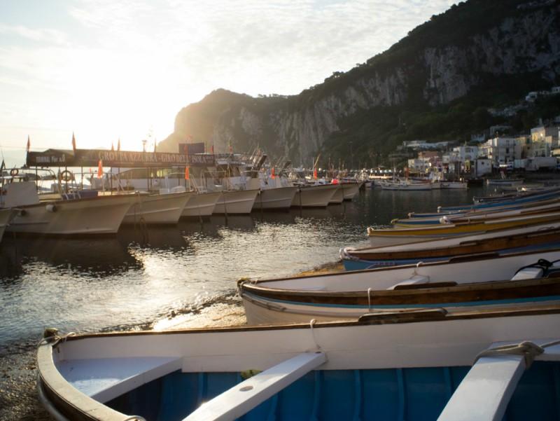 Albe e tramonti di Capri: borgo di Marina Grande