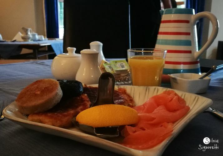 colazione irlandese con salmone