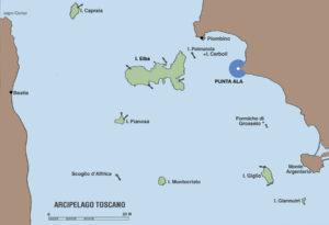 mappa isole toscane