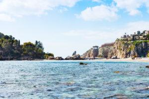 splendida veduta del mare di taormina