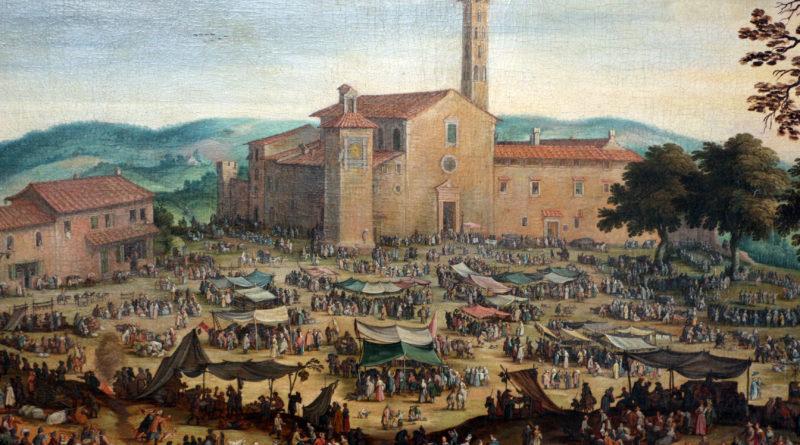 antica immagine della piazza dell'impruneta
