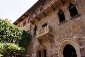 famoso balcone di Giulietta