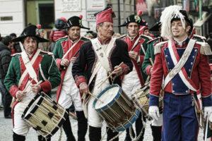 banda al carnevale di Ivrea
