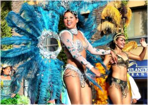 Tipici vestiti del Carnevale di Rio Brasile