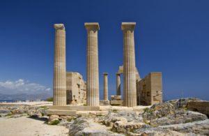 Rovine dell' antica acropoli di Lindos