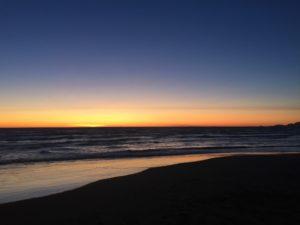 Lungomare di Forte dei Marmi al tramonto