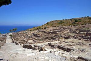 Scavi dell'antica città di kamiros