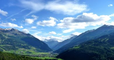 Panorama della Valtellina dove il pizzoccheri
