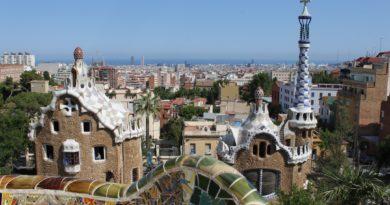 Panorama di Barcellona dall'alto