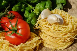 Ingredienti per pasta alla crudaiola