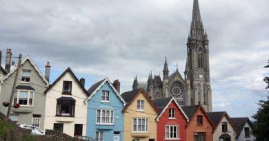 Tipiche case nel centro storico di Cork in Irlanda