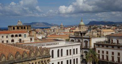 Vista dell'alto di Palermo in Sicilia