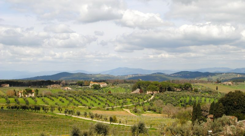 Paesaggio della collina del Chianti, Toscana