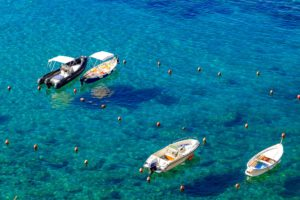 Le acque del mare della Costa Smeralda
