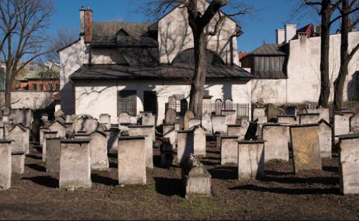 La Sinagoga Remuh nel quartiere Kazimierz a Cracovia