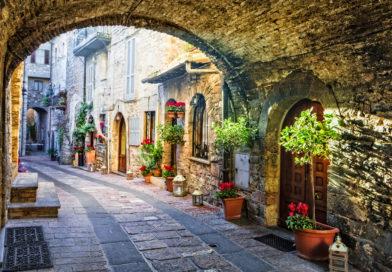 Scorcio di Spello, borgo dell'Umbria